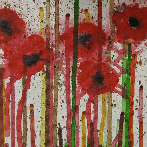 painting dripping poppies