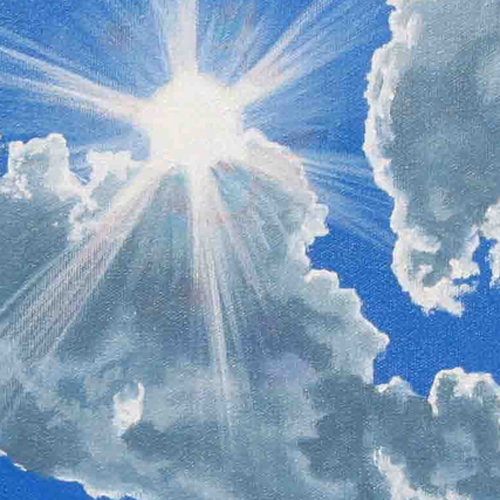 thumbnail painting sunburst