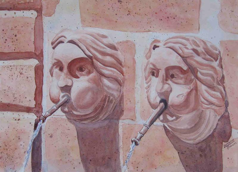 photo fountain faces