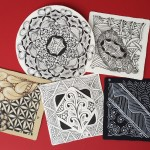 5 photos of Zentangle art